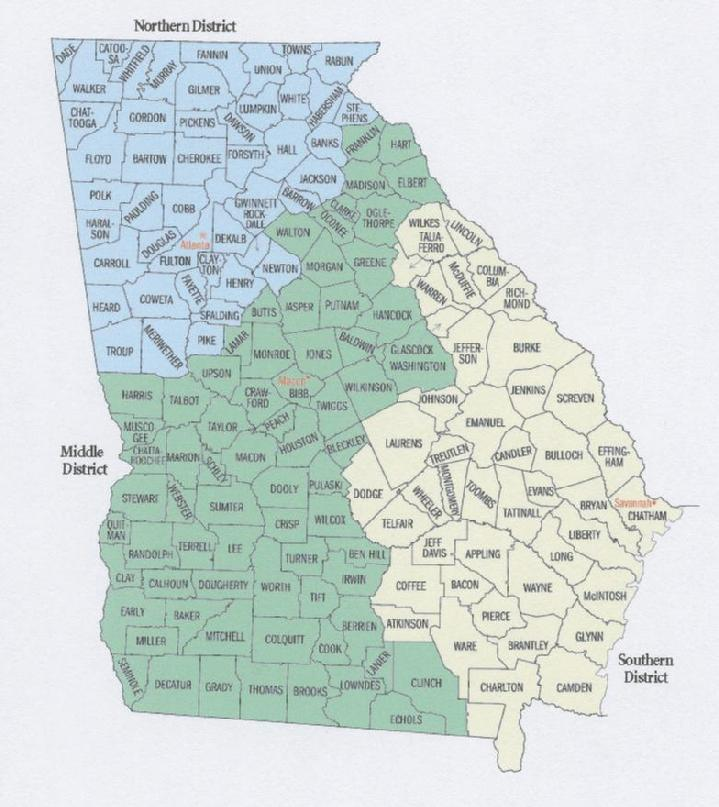 DebtStoppercom - Us court districts map